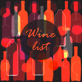 Wijnfles, glas Royalty-vrije Stock Foto