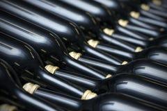 Wijnflessen Stock Foto