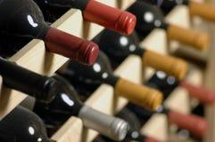Wijnflessen Stock Afbeelding
