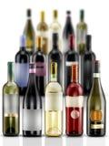 Wijnflessen royalty-vrije stock foto's