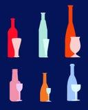Wijnflessen - Vector Royalty-vrije Stock Afbeelding