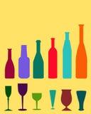 Wijnflessen - Vector Royalty-vrije Stock Foto