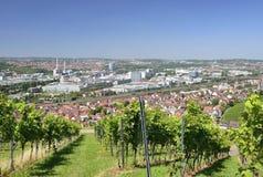 Wijngaarden en industriële regelingen, Stuttgart Stock Foto