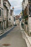 Wijngebied van Chablis, Frankrijk stock afbeelding