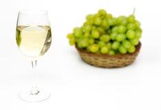 Wijnglas en druiven Stock Fotografie