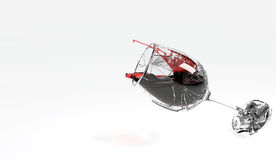 Wijnglas het Breken op Vloer stock illustratie