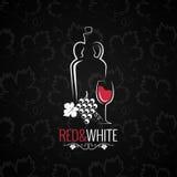 Wijnglas Logo Design Background Royalty-vrije Stock Foto's