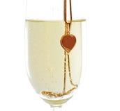 Wijnglas met mousserende wijn Royalty-vrije Stock Foto