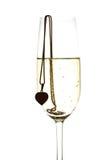 Wijnglas met mousserende wijn Royalty-vrije Stock Afbeelding