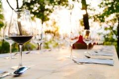 Wijnglazen Royalty-vrije Stock Fotografie