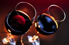 Wijnglazen Royalty-vrije Stock Foto