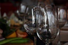 wijnglazen Stock Afbeelding