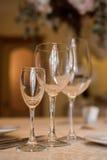 wijnglazen Royalty-vrije Stock Afbeeldingen