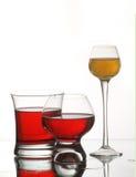 Wijnglazen Stock Foto