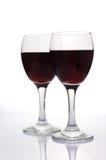Wijnglazen die op wit worden geïsoleerde Royalty-vrije Stock Foto