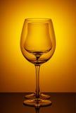 Wijnglazen, onderworpen onderzoek Stock Foto's