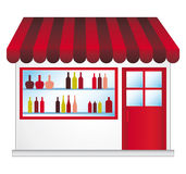 Wijnhandelaar. vector illustratie