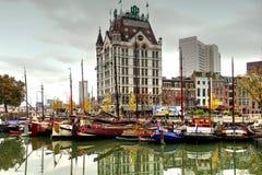 Wijnhaven port in Rotterdam Stock Images