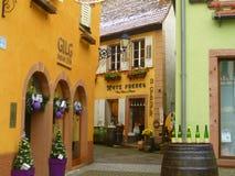 Wijnkelders in Ribeuaville Stock Fotografie