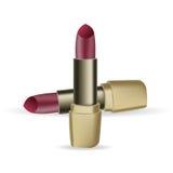 Wijnlippenstift vectorpictogram, schoonheidsmiddel, glamour Royalty-vrije Stock Fotografie
