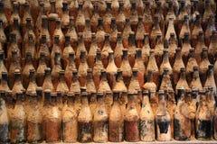 Wijnmakerij gonzales-Byass - de flessen Royalty-vrije Stock Foto