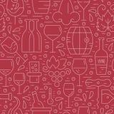 Wijnmakerijpatroon Stock Afbeelding