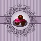 Wijnoogst 2 van Cupcake Royalty-vrije Stock Foto's