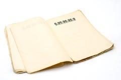 Wijnoogst bevlekt document stock afbeeldingen