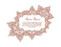 Wijnoogst bloemen Kantkader - bloemen en ornament Vector vector illustratie
