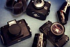 Wijnoogst cameraes Stock Afbeelding
