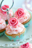 Wijnoogst cupcakes Stock Foto