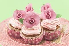 Wijnoogst cupcakes Stock Foto's