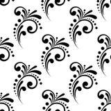 Wijnoogst die bloemen naadloos patroon scrollen Stock Foto's