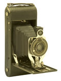Wijnoogst die de camera van de blaasbalgenfilm vouwen Stock Afbeelding