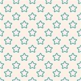Wijnoogst die naadloos patroon met gestreken sterren betegelen Abstract die retro ornament van eenvoudige vormen wordt gemaakt vector illustratie