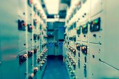 Wijnoogst en onduidelijk beeldtoon van Elektromechanismeruimte, Industrieel e royalty-vrije stock foto