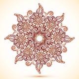 Wijnoogst geïsoleerde mandala in Indische mehndistijl Royalty-vrije Stock Foto's