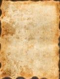 Wijnoogst gebrand document Stock Afbeelding