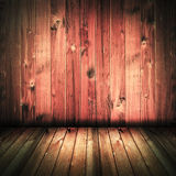 Wijnoogst gebrand huis binnenlands rustiek hout vector illustratie
