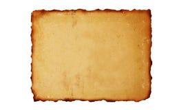 Wijnoogst gebrande document achtergrond Royalty-vrije Stock Afbeeldingen