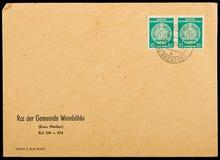 Wijnoogst gebruikte postenvelop Stock Afbeeldingen