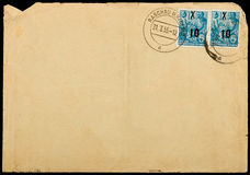 Wijnoogst gebruikte postenvelop Royalty-vrije Stock Afbeelding