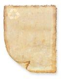 Wijnoogst gerecycleerde document achtergrond Stock Fotografie