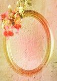 Wijnoogst gestileerd frame stock foto