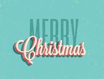 Wijnoogst gestileerde Vrolijke Kerstmisachtergrond Vector illustratie royalty-vrije stock foto's