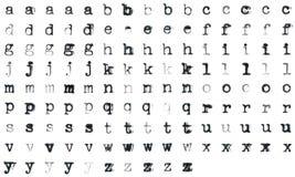 Wijnoogst getypt alfabet Stock Foto