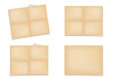 Wijnoogst gevouwen document Stock Afbeeldingen
