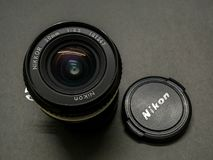 Wijnoogst 20mm 3 5 AI-s Nikon royalty-vrije stock afbeeldingen