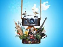 Wijnoogst 35mm Camera SLR Royalty-vrije Stock Afbeeldingen