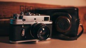 Wijnoogst 35mm Camera SLR Royalty-vrije Stock Afbeelding